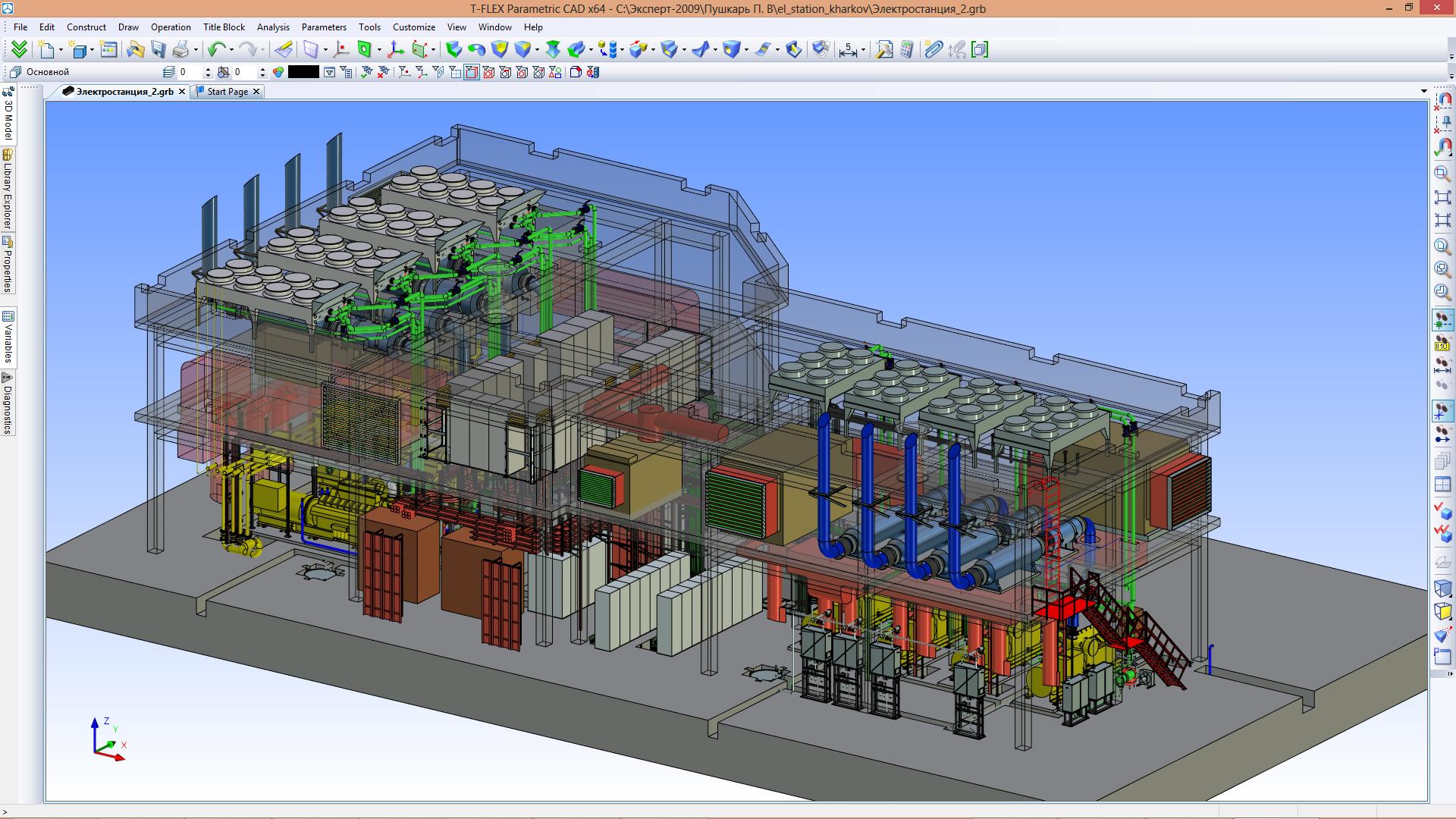 layout of diesel engine power plant: gas-diesel autonomous power plant