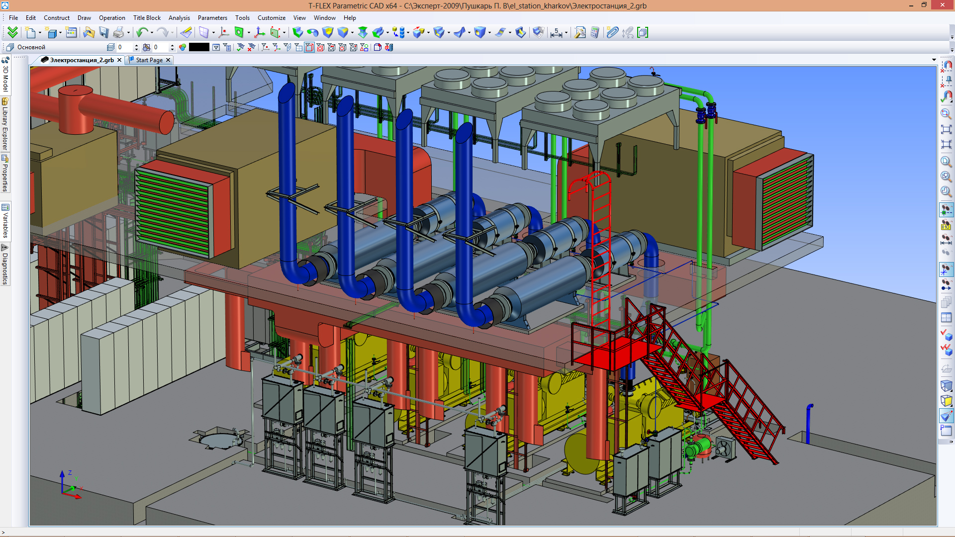 Gas Diesel Autonomous Power Plant Electrical Diagram