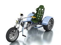 Trike with D6 Engine