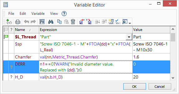 Updated Variable Editor